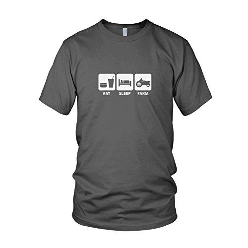 Eat. Sleep. Farm - Herren T-Shirt, Größe: L, Farbe: (Kostüm Idee Bauer)