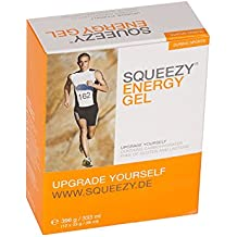 Squeezy Energy Gel, Sabor Plátano - Paquete de 12 x 33 gr - Total: