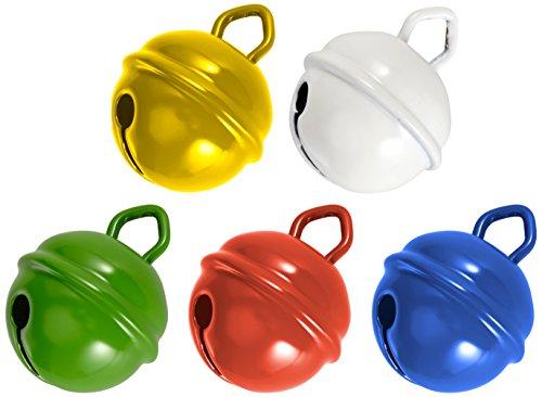 Kleine Glocke (Rayher 25086000 Metallglöckchen, 19 mm Ø, 5 Stück,  bunt)