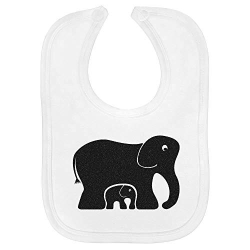 Azeeda 'Elefantes' Bebé Babero (BI00004297)