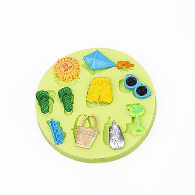 WYFC Sommer-Strand-Spielzeug Kuchendekoration Silikon-Schokoladenform Fondant sugar Werkzeuge Polymer Clay Süßigkeiten machen -