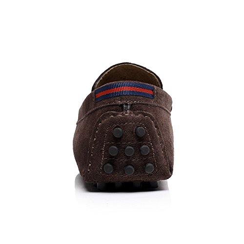 Shenn Homme Décontractée Scratch Plateforme Appartements Mocassins Chaussures Marron