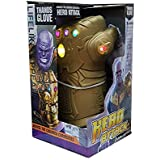 Avengers End Game Infinity War Gauntlet Thanos Glove with Music & LED Lights for Kids Children | Black Panther Thor Antman Ironman Captain America Marvel Disney (ONE)