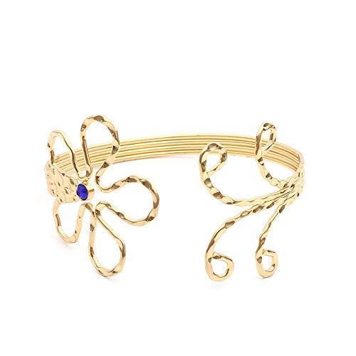 WL Armband Armkette Konkav-konvexes, kreatives, mit Blumen besetztes Armband, vielseitiger geometrischer Brokat, A - Brokat-armband