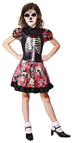 Kostüm Tag der Toten La Catrina für Mädchen mehrere Größen Hallowee