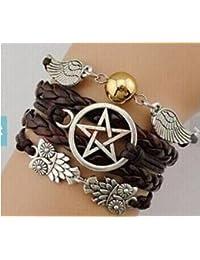 affb140b44bf Pulseras con cadena y anillo baratas