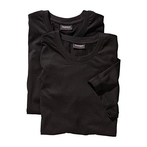 Redfield T-Shirt Doppelpack Rundhals schwarz 5XL