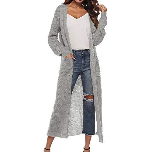 2019 Neue Frühling Herbst Frauen Langarm Strickwaren Kimono Warme Pullover Strickjacken Einfarbig Gestrickte Oberbekleidung Taschen