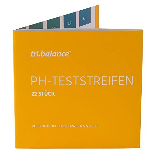 tri.balance pH-Teststreifen 22 Stück - 1er Pack I Messbereich 5,6-8,0 pH I pH-Wert Messung im Urin - Wasser I Kontrolle des Säure-Basen-Haushalts