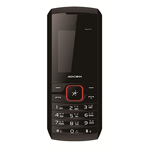 Adcom 111 Dual Sim Mobile Phone With Camera (black & Red)