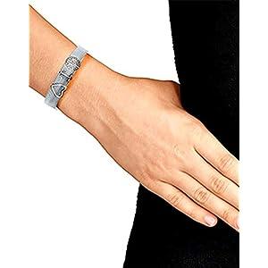 LUXERY Damen Charm-Band 3 Charm mit 1 Armband Starter Set Angebot,Edelstahl Schmuck Gestalten mit Charms Mesh Frauen Individuelle Anhänger Zirkonia Schiebe-perlen Slider