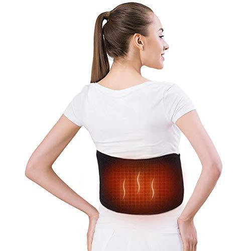 Elektrischer Wärmegürtel Rücken USB, Heizgürtel Elektrisch Rückenwärmer Heizkissen Gürtel für Taillenschmerzen, warmer Bauch, Schmerzlinderung, passt Damen und Herren