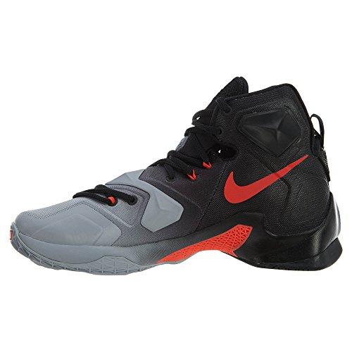 Nike Lebron Xiii, Scarpe da Basket Uomo Grigio (Gris (Gris (Wlf Gry/Brght Crmsn-Blk-Cl Gry)))