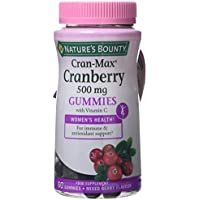 Natures Bounty Cran-Max® Arándano Rojo 500 mg Gummies. Extracto d - 60