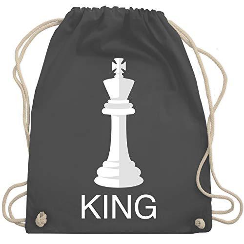 - Kings Schachfigur Karneval Kostüm - Unisize - Dunkelgrau - WM110 - Turnbeutel & Gym Bag ()