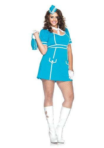 Leg Avenue 83832X - Klassiker Flugbegleiter Kostüm Set, Übergröße 44, (Flug Kostüme Stewardess)