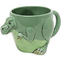 Tazza 3-D a Forma di T-Rex Design Dinosauro / Coppetta Curiosità / Coppa Decorativa, Verde - MyGift Home