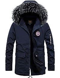 Giacche e cappotti Cappotti Parka invernale da uomo Cappotto imbottito in  cotone Giacca imbottita con cappuccio in pelliccia sintetica Casual… 3f2cbf9abf1
