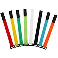AGPTEK Colorful Nylon Reusable Cable Ties with Eyelet Holes- Set of 16, 8 Colors