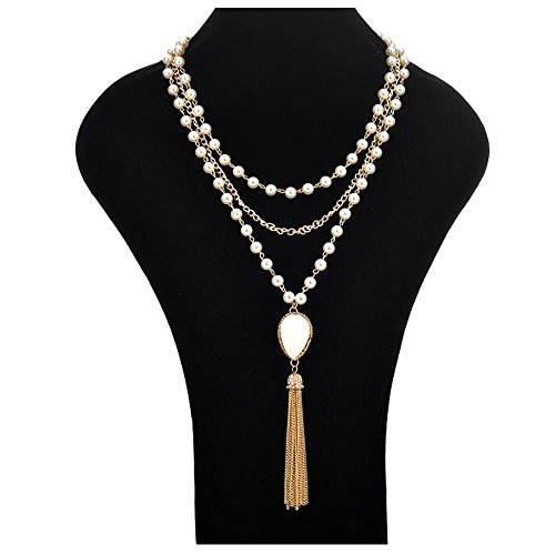 Faux Perlen Flapper Perlen Cluster Lange Perlenkette (Flapper Frauen)