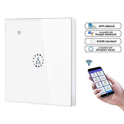 FreeLeben Wasserkocher Smart Schalter, 20A WiFi Voice Remote Control Zuhause Boiler Touch Wall Panel Timer Steuerung Kompatibel mit Amazon Alexa/Google Assistant (Weiß) -