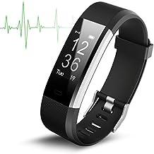 Smart Watch Wasserdicht IP67 Activity Tracker mit Herzfrequenz Monitor - Fitness Tracker 2,4 cm OLED-Bildschirm Bluetooth 4.0 Schrittzähler Smartwatch Wireless USB Ladekabel Armband