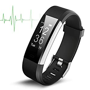 Smart Watch Waterproof IP67 Activity Tracker With Heart Rate Monitor – Fitness Tracker with 14 Exercise Modes Sleep Monitor with GPS Route Tracking Pedometer Step Counter with 4 Watch Faces Smartphone