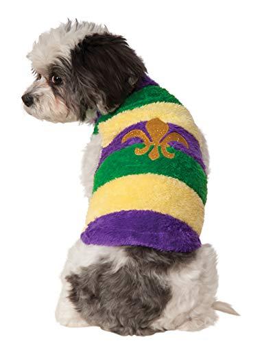 Kostüm Mardi Für Gra Hunde - Rubies Mardi Gras Hundepullover, weich, Extra Large, Mehrfarbig