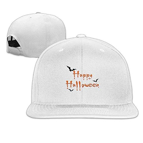 ps Hats Happy Halloween Fly Bat Flat Baseball Caps Snapback Hat Unisex Adjustable Unique Personality Cap Baseballmütze ()