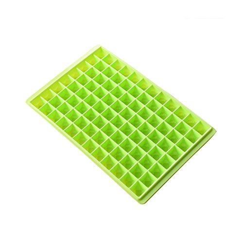Preisvergleich Produktbild YOKIRIN 30X20X2.5 CM Eiswürfelbehälter PP Material 96 große Diamantgitter Eis Gitterform Schokoladenform DIY Dekoration Kuchenform(Grünes Gras)