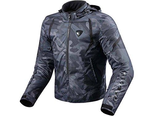 REVIT FLARE Herren Motorrad Textiljacke Sport - schwarz Größe XL (Flare Schwarz Jeans)
