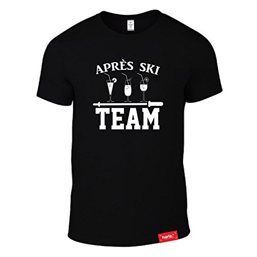 HARIZ  Après Ski: Original Collection T-Shirt//Zwanzig Designs Wählbar//Schwarz, S-XXL//Skifahrer I Apresski I Hüttenparty I Piste I Wandern I Bergsteiger #Ski02: Après Ski Team