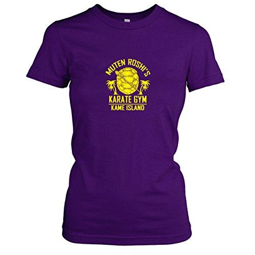 TEXLAB - DBZ: Karate Gym Kame Island - Damen T-Shirt, Größe XL, violett