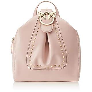 PINKO Damen Alkan Backpack Vitello Seta Rucksack, Pink (Rosa Chiaro), 15x29x25 Centimeters