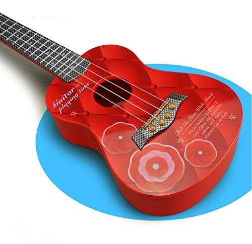 Große Auswahl an Anwendungen Kinder Simulation Gitarre Saiten Ukulele Instrument (rot)