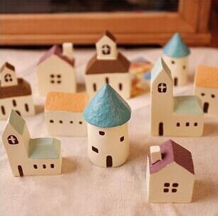 Kunstharz Crafts House klein Shooting Requisiten zerbirst DIY micro-landscape Dekoration Castle Dekoration