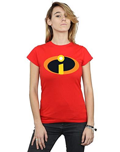 Disney Damen The Incredibles 2 Costume Logo T-Shirt Rot Medium