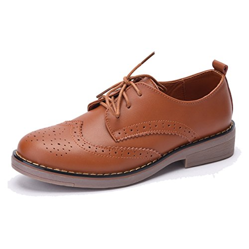 Moonwalker Womens Leather Lace Up Oxfords Shoes  4H388D16A