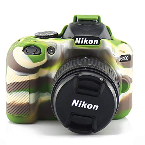 Funda protectora de silicona verde para Nikon D3400