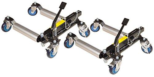 """12"""" Rangierhilfen, 2 Stück, hydraulisch 2 x 680 kg Tragkraft, silberne Rollen, T9012L, 01700"""