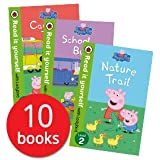 Peppa Pig Read it Yourself with Ladybird Collection 10 Books Set (Level 1-2) (Little Creatures, Fun at the Fair, Recycling Fu