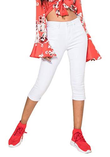 Nina Carter Damen weiß Caprihose Skinny Kurze Jeans Sommerhose größe 38 Carter Jeans