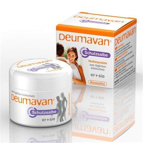 Deumavan Lavendel Schutzsalbe, Spar-Set 2x50ml. Sanfte Intimpflege für den ganzen Tag, pflegt die empfindliche Haut im Intimbereich sanft und nachhaltig. Hormonfrei!
