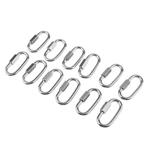 Sharplace 12 Stücke Schnelle Gliederkette Reparatur Schäkel Anlege- Ankerausrüstung Reparatur Zubehör