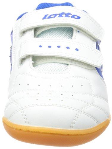 Lotto Sport Kick Ii Jr S.eu, Chaussures de football mixte enfant Blanc - Weiß (WHITE/BLUE)