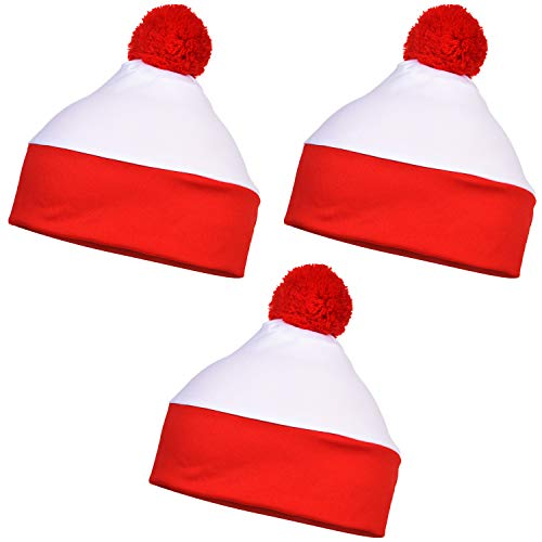 SATINIOR 3 Piezas Gorros Blancos Rojos Gorros