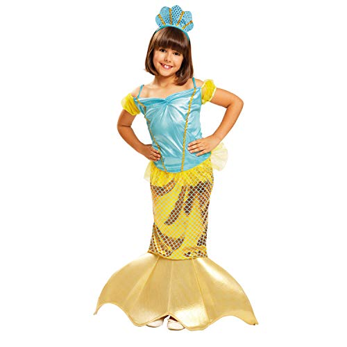 My Other Me – costume da sirenetta per bambina (Viving Costumes) 3-4 años