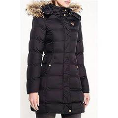 f8d08aa5b32 New Plus Size Womens Puffa Faux Fur Padded Ladies Jacket Coat .