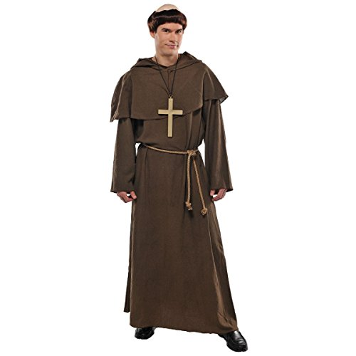 amscan Kostüm Mönch / Priester / Pater 4-teilig Gr. 44/46 (Vier Elemente Kostüm)