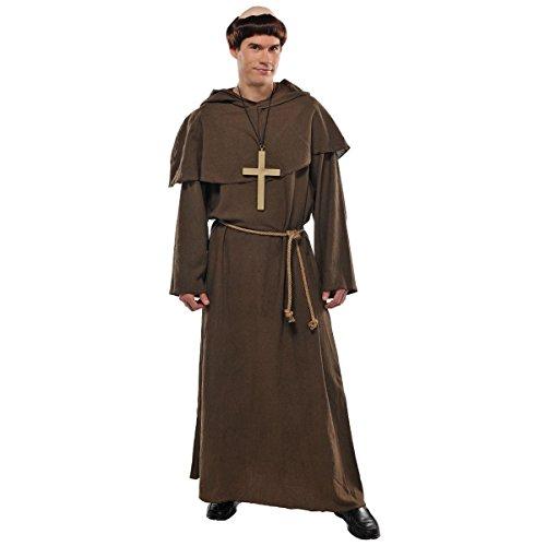 amscan Kostüm Mönch / Priester / Pater 4-teilig Gr. 44/46 (Mönch Priester Kostüm)